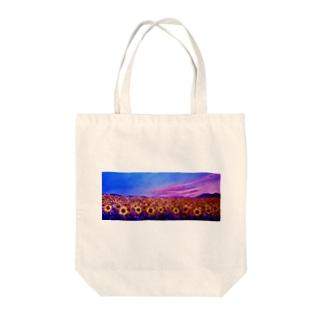 ひまわり Tote bags