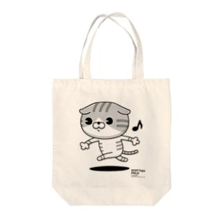 にゃんこMAX(スコティッシュ) Tote bags