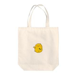 えんぴつひよこ Tote bags
