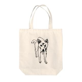 柴犬『まなざし』 Tote bags