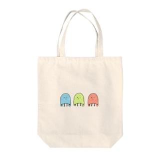 エコバッグおばけトリオ Tote bags