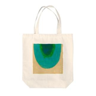 青の虹 Tote bags