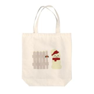 スノーマン Tote bags