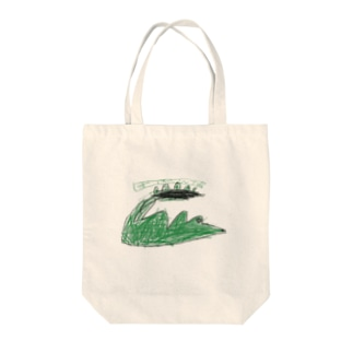 サバンナのワニ Tote bags