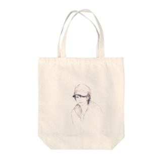 帽子男子 Tote bags