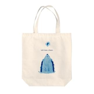 ハリネズミのひと休み Tote bags
