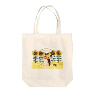 fukunofukuのハリネズミの夏休み Tote bags