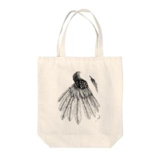 Black bird bag Tote bags