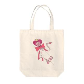 マジカルローズハートロッド Tote bags