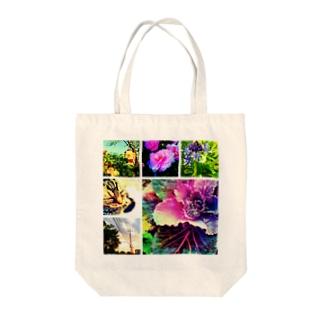 【1】コラージュ Tote bags