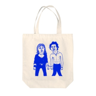 サチエとケンちゃん(青色) Tote bags