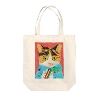 のっぴきならない/保護猫タラ Tote bags