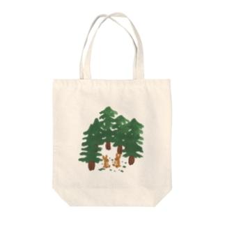 森の中でお喋り Tote bags