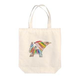 虹色の怪獣 Tote bags