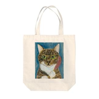 のっぴきならない/保護猫スイ Tote bags