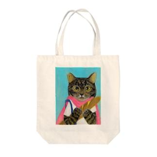 のっぴきならない/保護猫半蔵 Tote bags