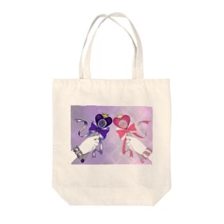 病み&夢♡マジカルローズハートロッド Tote bags