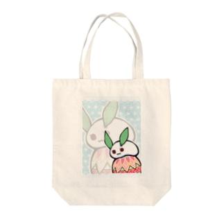 まる雪うさぎ-手鞠- Tote bags