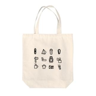キャンプチェックリスト Tote bags