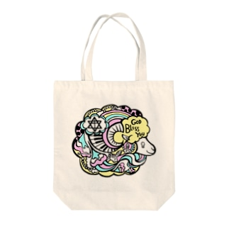 GOD BLESS YOU Tote bags