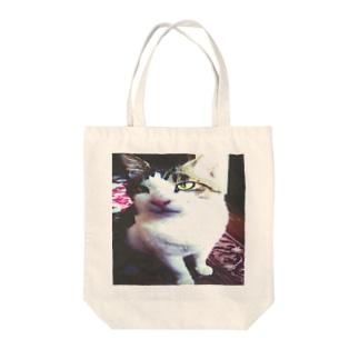 aisuru cat Tote bags