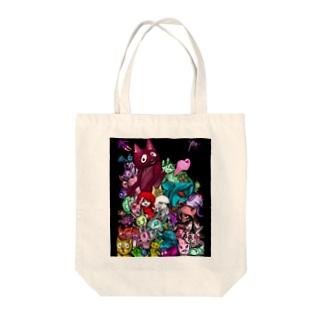 魔獣ケモノノ村 Tote bags