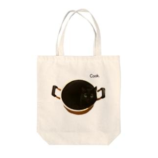 猫カフェ ぶぅたんグッズショップのクク鍋 Tote bags