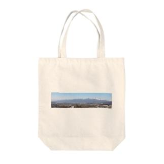 浅間山b Tote bags