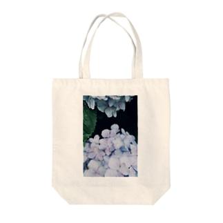 紫陽花と蜘蛛 Tote bags