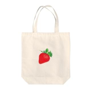 イチゴ Tote bags