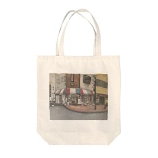 油絵 Tote bags