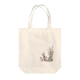 小さなおみやげやさん(SUZURI支店)のきのこと小人と時々カエル(えのき茸) Tote bags