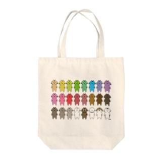 カラフルキャット Tote bags