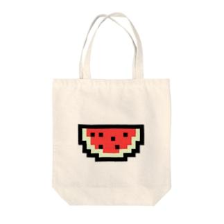 スイカアイコン Tote bags