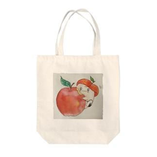 ぷっちのりんごもぐもぐ Tote bags