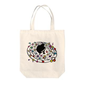 Loop_the_Loop Tote bags