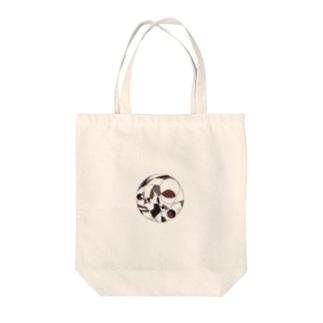 線・円・曲線の猫 Tote bags