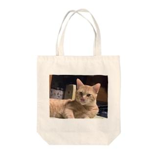 ニャーニュー ベロ出し Tote bags