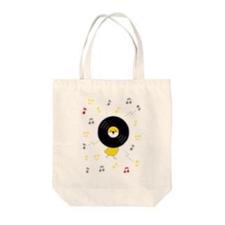 レコードリ秋の滝 Tote bags