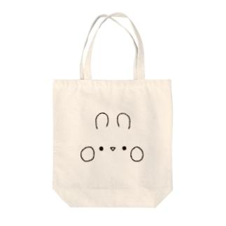 うさぎのおかお Tote bags