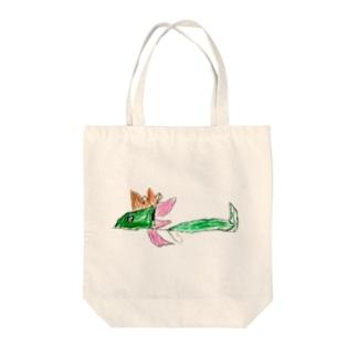 ドラゴン Tote bags