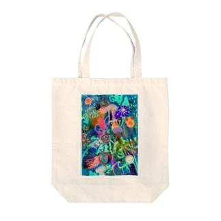SEA CREATURES Tote bags