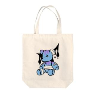 やみかわクマ(ブルー) Tote bags