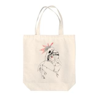 星トカゲの鳥女 Tote bags