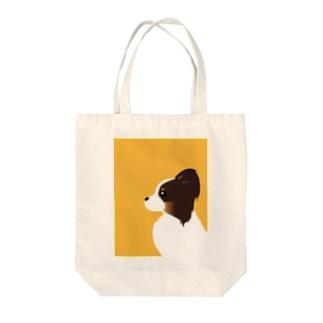 パピヨン Tote bags