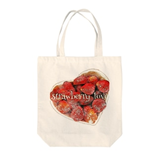 strawberry love Tote bags