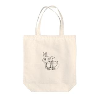 ホッキョクウサギ Tote bags