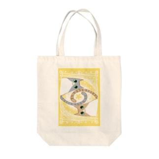 ゆるい系の猫-ゆず色- Tote bags