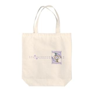 ゆるい系の猫-ふじ色- Tote bags