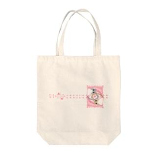 ゆるい系の猫-もも色- Tote bags